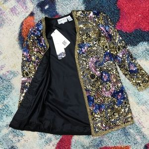 BLACKTIE Sequin Jacket, Size S, Brand New